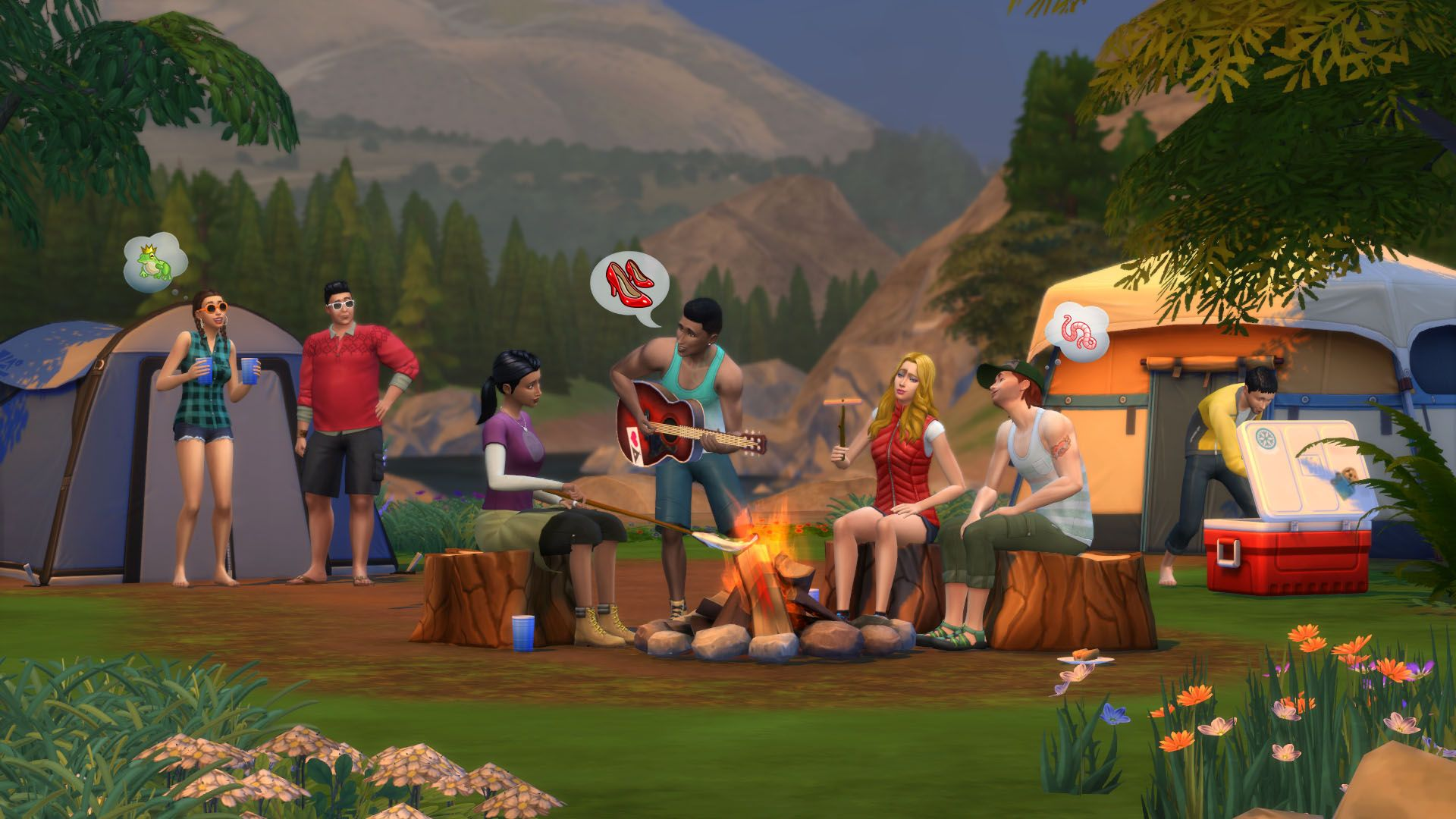 The Sims™ 4 Bundle Get to Work Outdoor Retreat Luxury Party